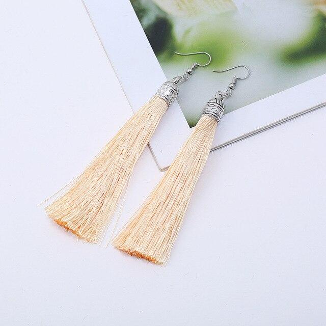 Lzhlq 2 пары серьги с кисточками женские модные ювелирные изделия