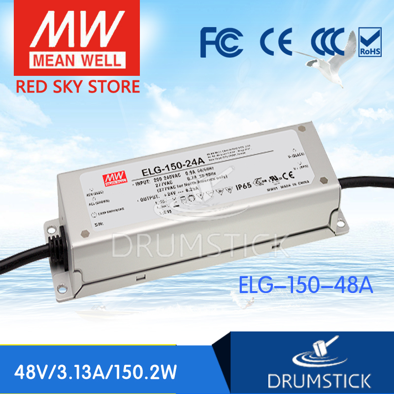 100% Original MEAN WELL ELG-150-48A 48V 3.13A meanwell ELG-150 48V 150.2W Single Output LED Driver Power Supply A type [Real6] 1mean well original elg 100 48b 48v 2a meanwell elg 100 48v 96w single output led driver power supply b type