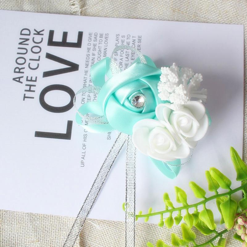 wrist corsage bracelet bridal wedding flowers Bridesmaid  (103)