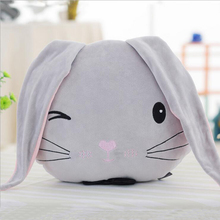 New Arrival Lovely Rabbit Head Soft Plush Toy Stuffed Doll Pillow Gift Send to Children & Friends