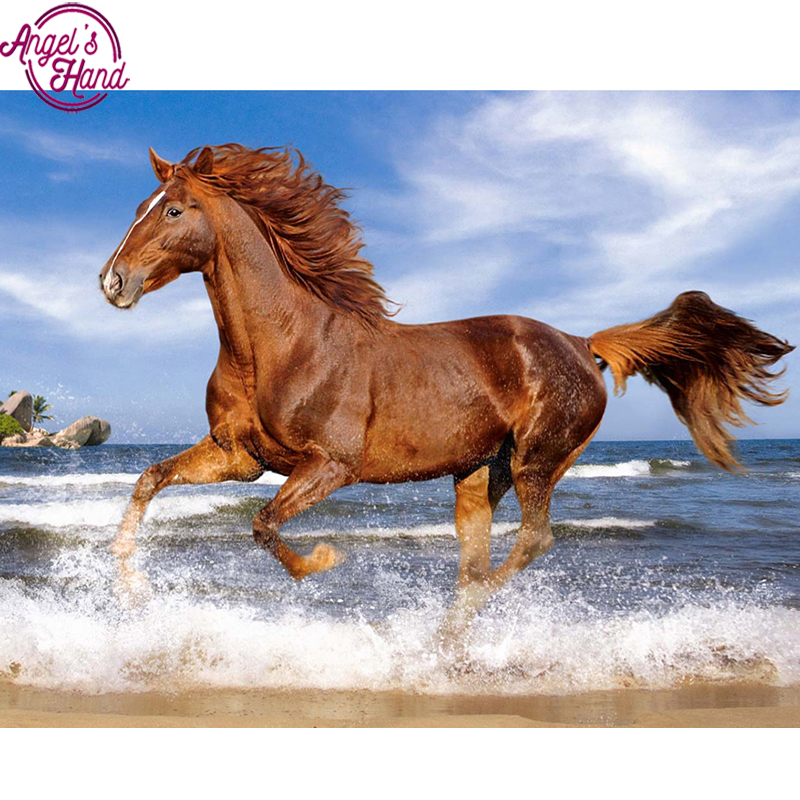 Galloping Horses DIY Diamond Painting Mosaic Kit Picture