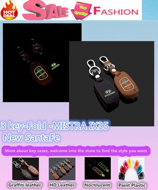 Высокое Качество стайлинга автомобилей крышка Световой Кожаной сумке ключи случаях цепи Бумажник умный/фолд для Hyunda1 МИСТРА IX35 Новый SantaFe