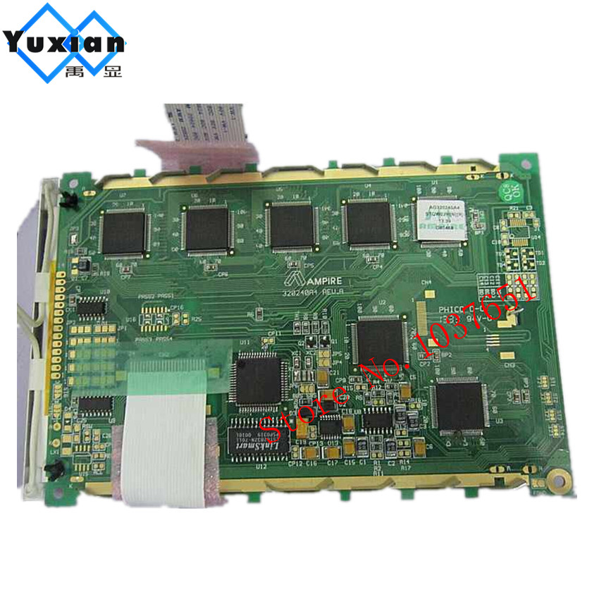 Original ampire AG320240A4 AG320240F blue screen 24pin LED backlight 5.7 inch lcd DISPLAY PANEL цена