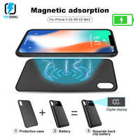 finest selection c888f 6e49d TOPZERO LED Battery Charger Case For iPhone X XS XR XS MAX Portable  Separable Magnetic Adsorption Power Bank For iPhone X XS MAX