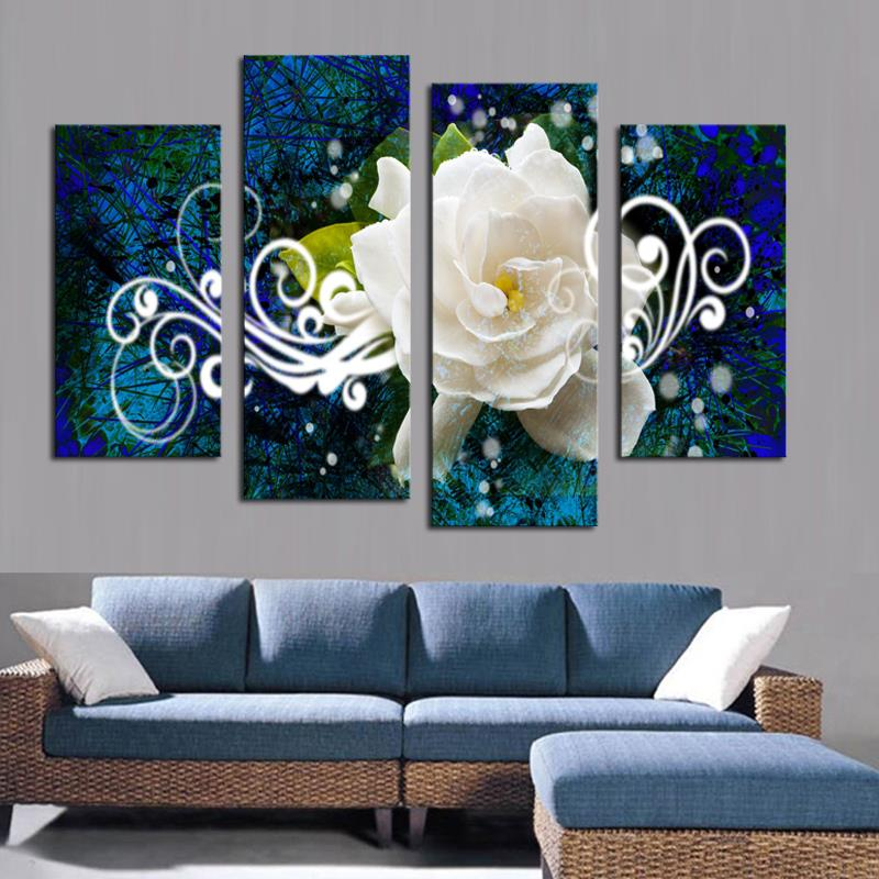 Unframed Modern Flowers Art Oil Canvas Painting Pictures Print Home Wall Decor