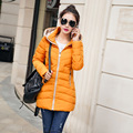 2016 New Fashion Down & Parkas Warm Winter Coat Women Light Slim Winter Jacket Female Hooded Outerwear