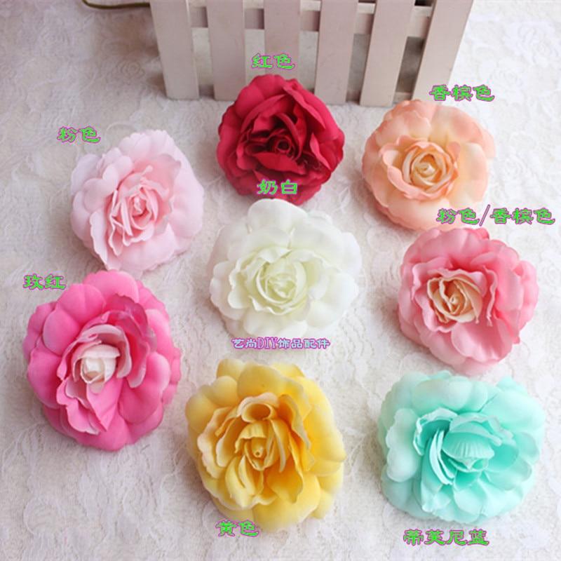 8 cm fiore di diy dai colori pastello testa di rosa tea fiore ...