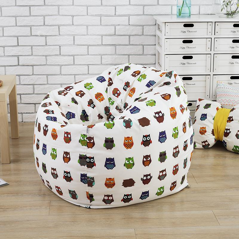 The Cartoon Pig style Bean Bag Chair Garden Camping Beanbags covers Lazy Sofa Anywhere Portable Sitting