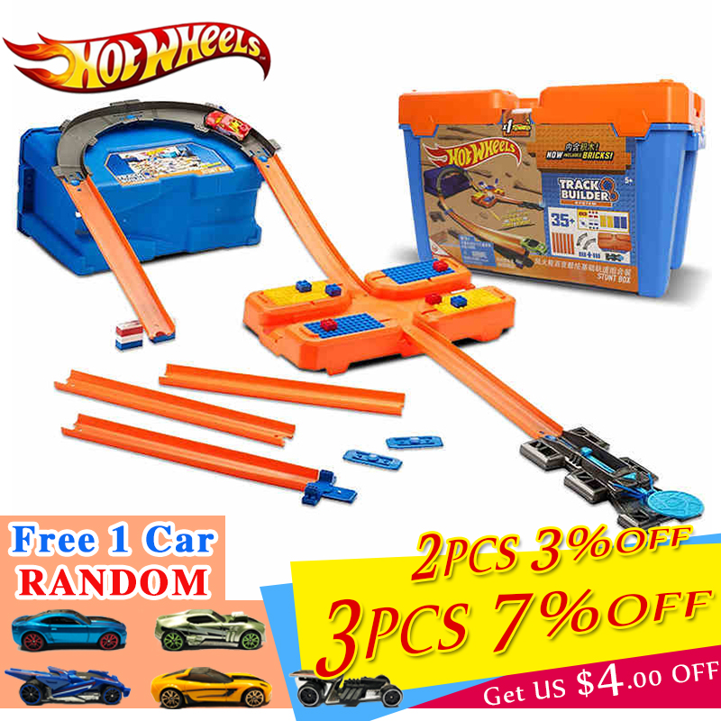 Hot <font><b>Wheels</b></font> <font><b>Car</b></font> Track Set Plastic Multifunctional Storage Box <font><b>Car</b></font> Track Toy Hotwheels Track <font><b>Model</b></font> DWW95 For Birthday Gift image