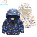 warm quality comfortable Animal Baby Girls Jacket Active Hooded Outerwear Coats Children Giraffe Printing Clothing Windbreaker