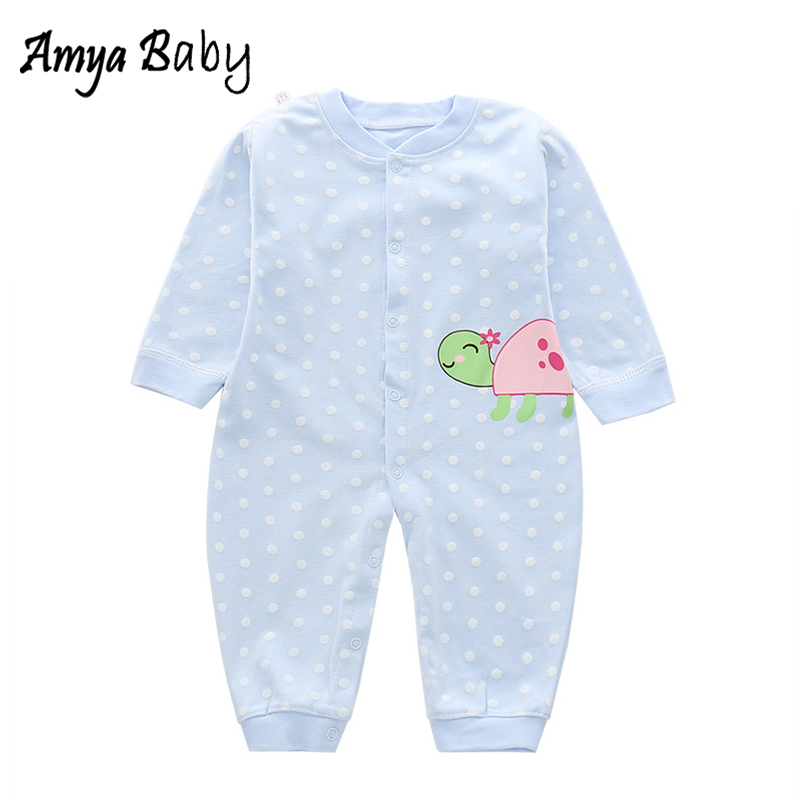 AmyaBaby Long Sleeve Baby Girls Rompers 100% Cotton Autumn Boy Jumpsuit Unisex Baby Clothes Halloween Costume Infant Rompers ...