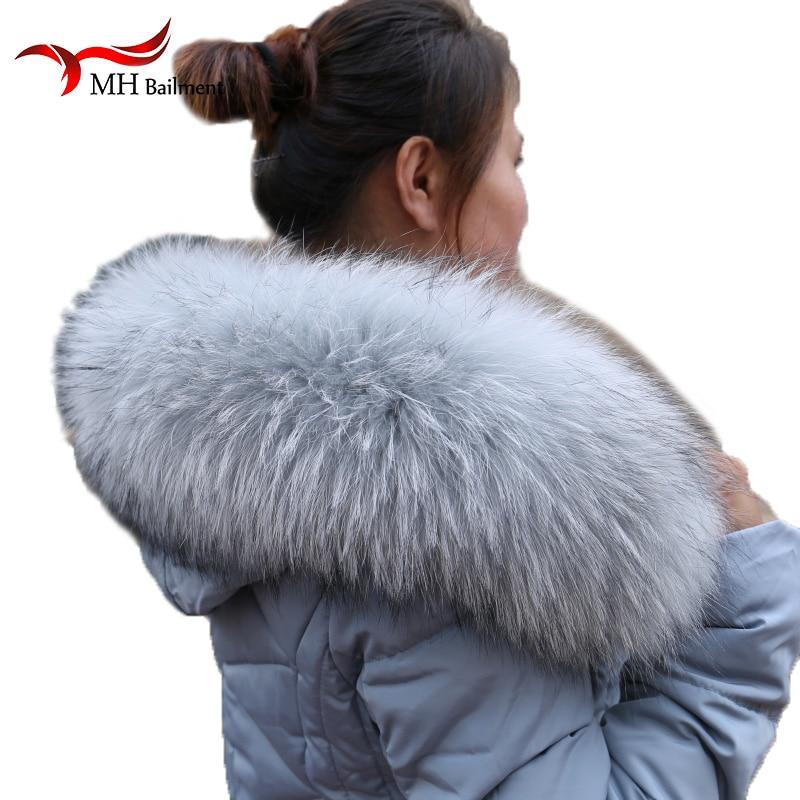 Real Raccoon Fur Collar Womens 100 Natural Fur Gray Collar Real Fur Shawl Raccoon collar Fur