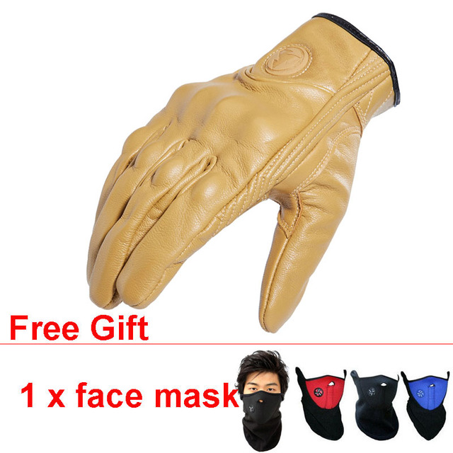 ROCK BIKER New Motorcycle Leather Gloves Touch Screen Protect Fist Joint Luva Motociclista Gants Moto Cuir for Riding Cycling