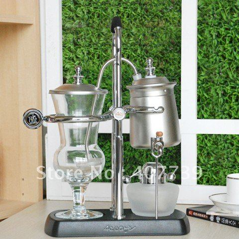 US $336 0 |Competitive 4C Belgium Royal kitchen appliance coffe & tea pot  silver Syphon Coffee Maker coffee balance system Free Shipping-in Tool  Parts