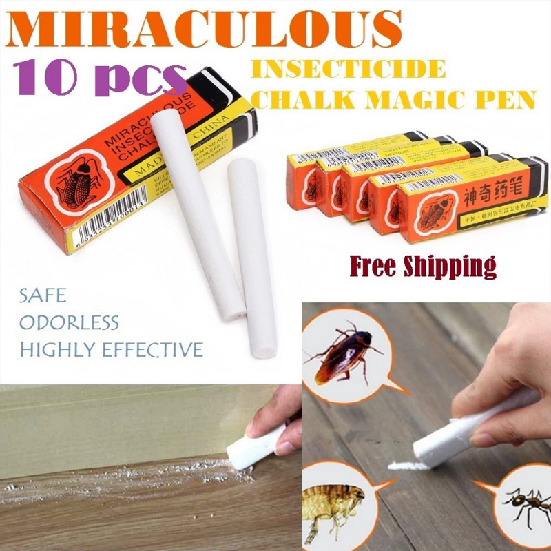 Flea Magic Insect Pen 2Pcs/1Box Lice Pet Cats  Dogs Kill Cockroach Chalk Bugs Household Products Useful Roaches Ant Lice Ant