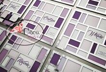 super creative luxury laser cut silver mirror acrylic menu card place card invitation card