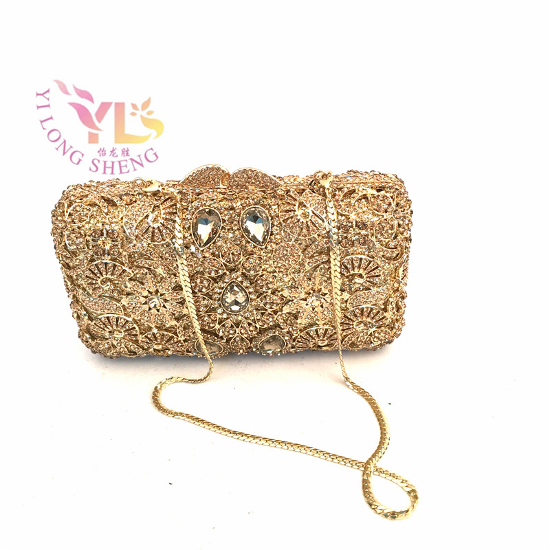 Women Fashion Crystal Party Bags Purses Floral Evening Bags And Clutches Luxury Women Cross Body Bags YLS-59 luxury crystal clutch handbag women evening bag wedding party purses banquet