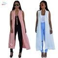 2016 Summer Cardigan Maxi Dress Sleeveless Vestidos De Festa Womens Sexy Dresses Party Night Club Dress Plus Size Women Clothing