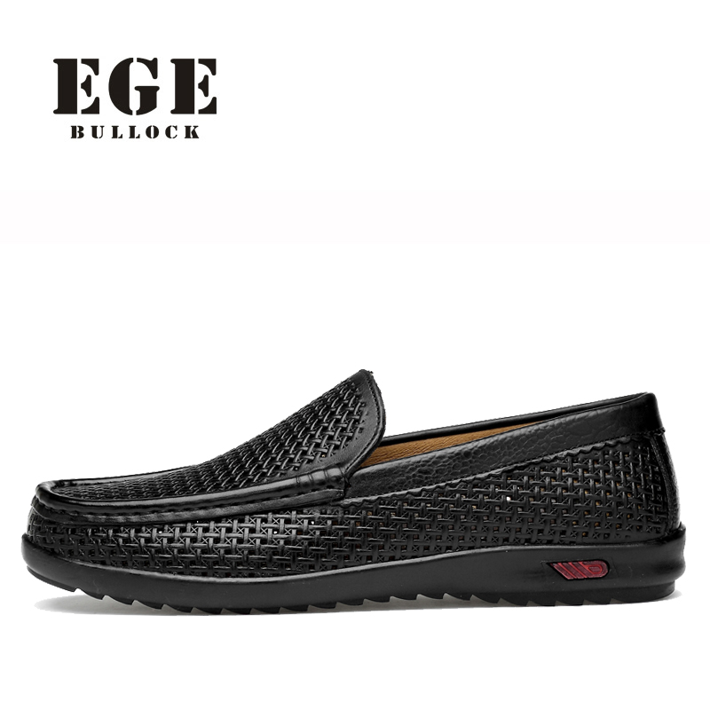 Men Loafers New Arrival Top Quality Genuine Leather Causal Shoes Male Summer Breathable EGE Brand Driving Shoes for Men summer causal shoes men loafers genuine leather moccasins men driving shoes high quality flats for man