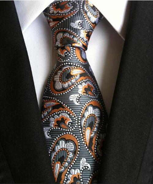 130 Styles Classic 8 Cm Tie for Man 100% Silk Tie Luxury Striped Business Neck Tie for Men Suit Cravat Wedding Party Necktie