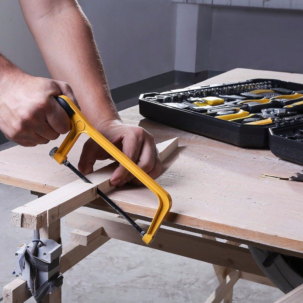 DEKO 168 Pcs Handgereedschap Set Algemene Huishoudelijke Hand Tool Kit met Plastic Toolbox Opslag Case Dopsleutel Schroevendraaier Mes - 5
