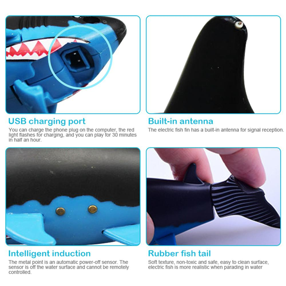 Image 4 - Remote Control Mini Shark Submarine Funny RC Underwater Fish Boat Toy Sharks Toys for  Children-in RC Submarine from Toys & Hobbies