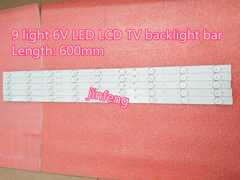 100% NEW9 light 6V LED backlight strip 32 inch general 9 lamp 6V LCD TV lens lamp bar can cut lamp bead.