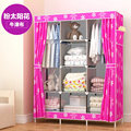 FREE shipping Good Wardrobe Closet Large And Medium-sized Cabinets Simple Folding Reinforcement Receive Stowed Clothes Store