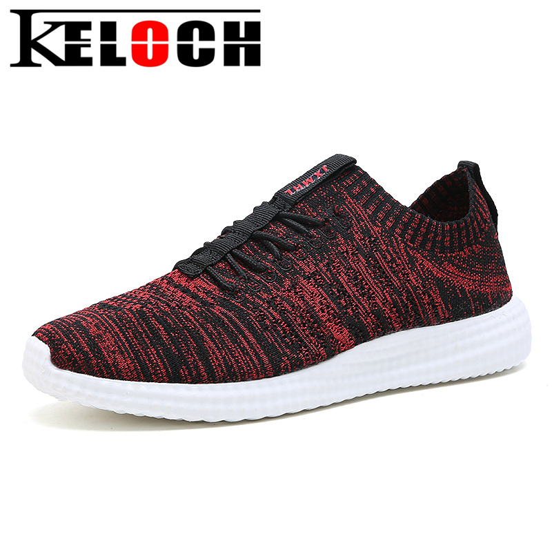 Keloch New Spring Summer Running Shoes For Men Fly Weave Breathable Lightweight Men Sneakers Outdoor Jogging Walking Sport Shoes