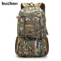 Bucbon Camo Mochila táctica ejército militar Mochila 50L impermeable senderismo caza Mochila turística Mochila deportiva HAB037