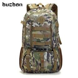 Plecak taktyczny Bucbon Camo wojskowa armia Mochila 50L wodoodporny plecak myśliwski plecak turystyczny plecak sportowy HAB037 w Torby wspinaczkowe od Sport i rozrywka na