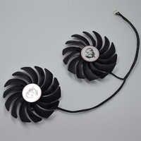 2 pçs/lote 95MM PLD10010S12HH 4Pin Cooler Substituição Do Ventilador Para MSI GTX 1060 1070 1080 TI RX 470 570 RX580 GAMING X Placa Gráfica