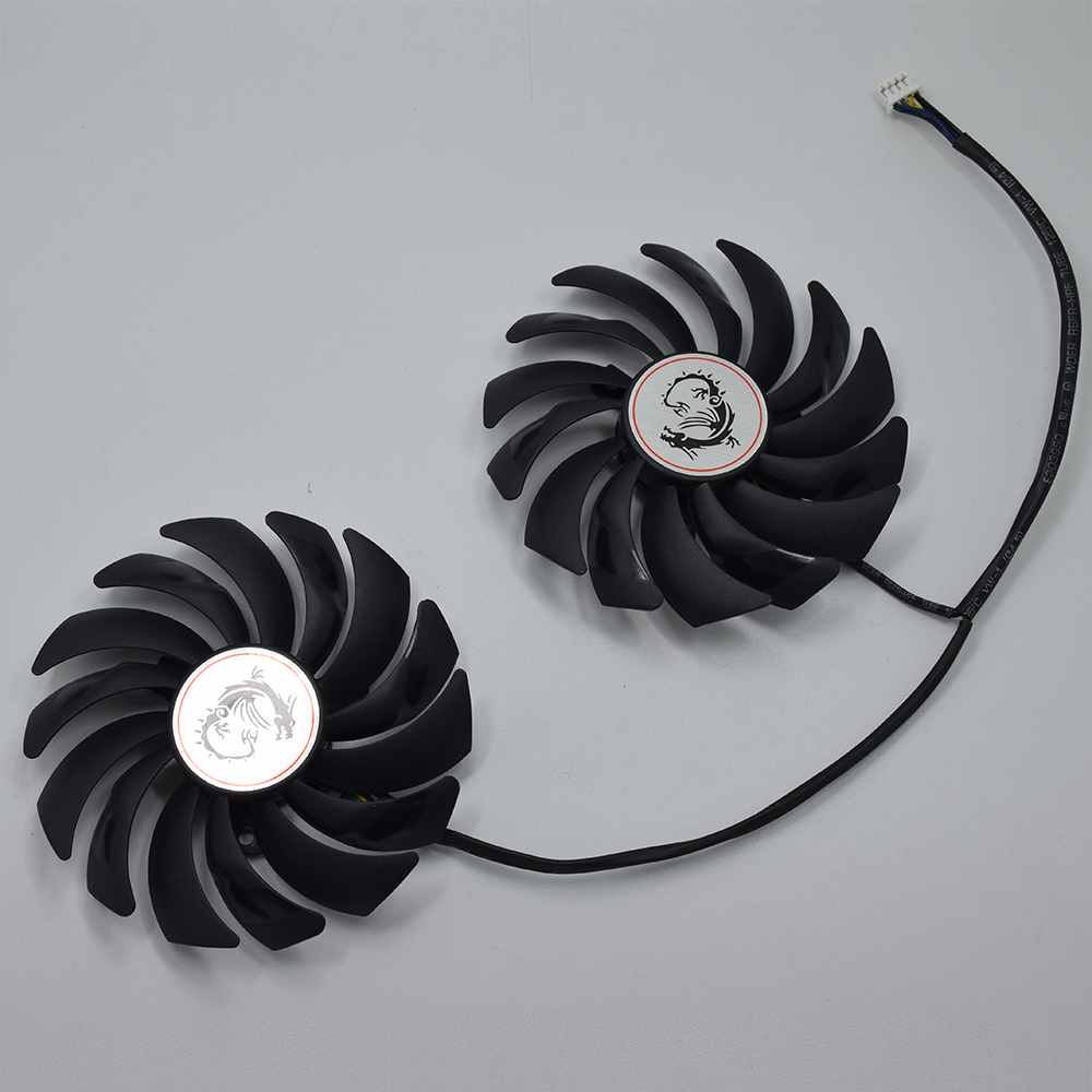 2Pcs/Lot 95MM PLD10010S12HH 4Pin Cooler Fan Replacement For MSI GTX 1060 1070 1080 TI RX 470 570 RX580 GAMING X Graphics Card