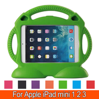 Tablet EVA Series Shock Proof Convertible Handle With Kickstand Kids Friendly Protective Cover Case For Apple