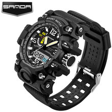 SANDA LED Digital Watch Men Watches Top Brand Luxury Famous Sport Military Wrist Watch Male Clock