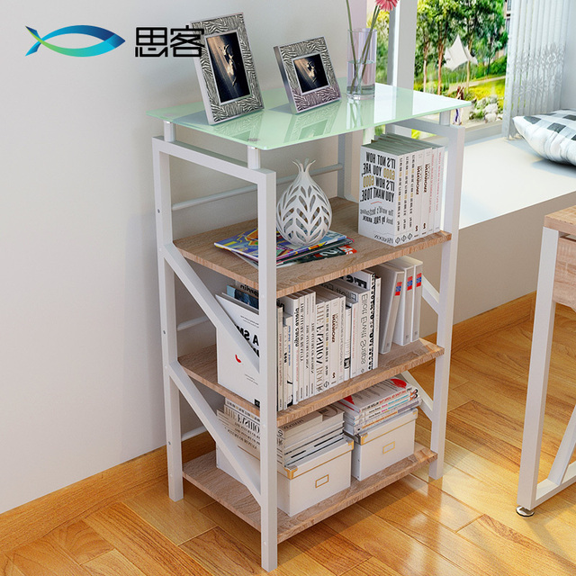 Boutique Simple Combination Of Steel Shelving 4 Layers Metal Storage Rack Bookshelf Environmental Study