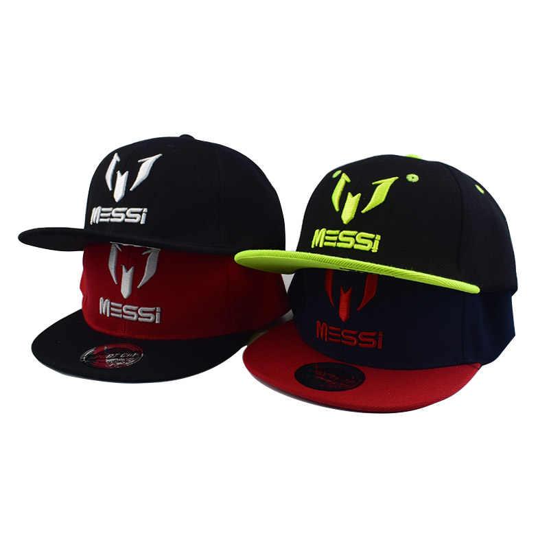 96170c57237 New Fashion Children Ronaldo Neymar Baseball Cap Hat Boys Girls Kids Big bone  embroidery MESSI Snapback