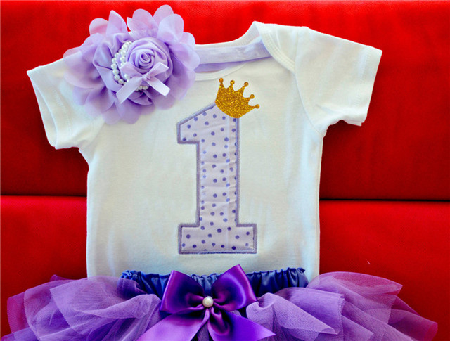 Newborn Baby Girl Clothes Sets Bebes Clothing Suits 1st Birthday Outfit Baby Rompers+Tutu Skirt+Headband Baby Christening Gift 4
