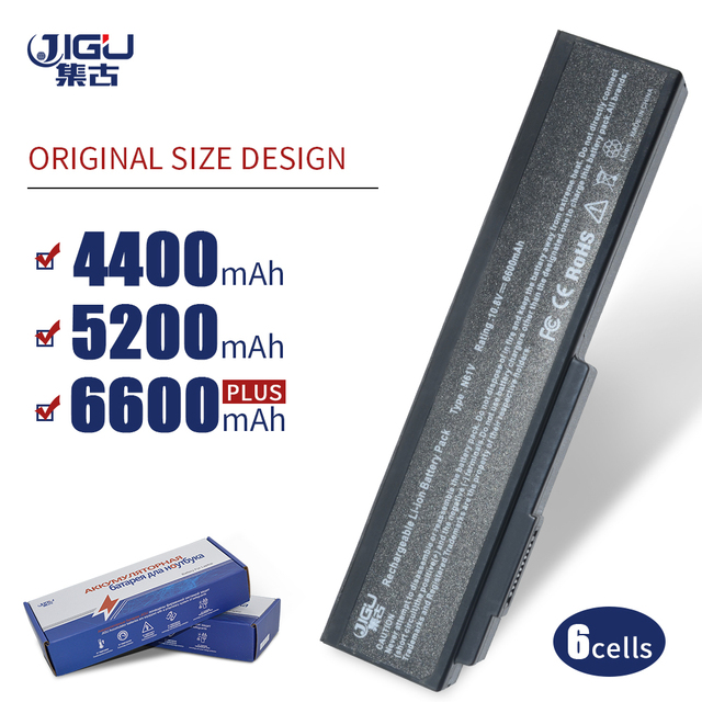 JIGU מחשב נייד סוללה עבור Asus N61 N61J N61Jq N61V N61Vg N61Ja N61JV N53 M50 M50s N53S A32 M50 A32 N61 A32 X64 A33 M50