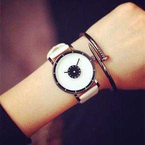 Luxury Brand Fashion Casual wristwatches Unisex Leather Steel Strap Minimalist Creative watch Men Newly Design Quartz relogio
