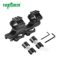Fiery Deer Quick Release Cantilever Heavy Duty Scope Mount 30mm/1 Dual Ring Flat Top Rifle Scope Mount Picatinny Rail Hunting