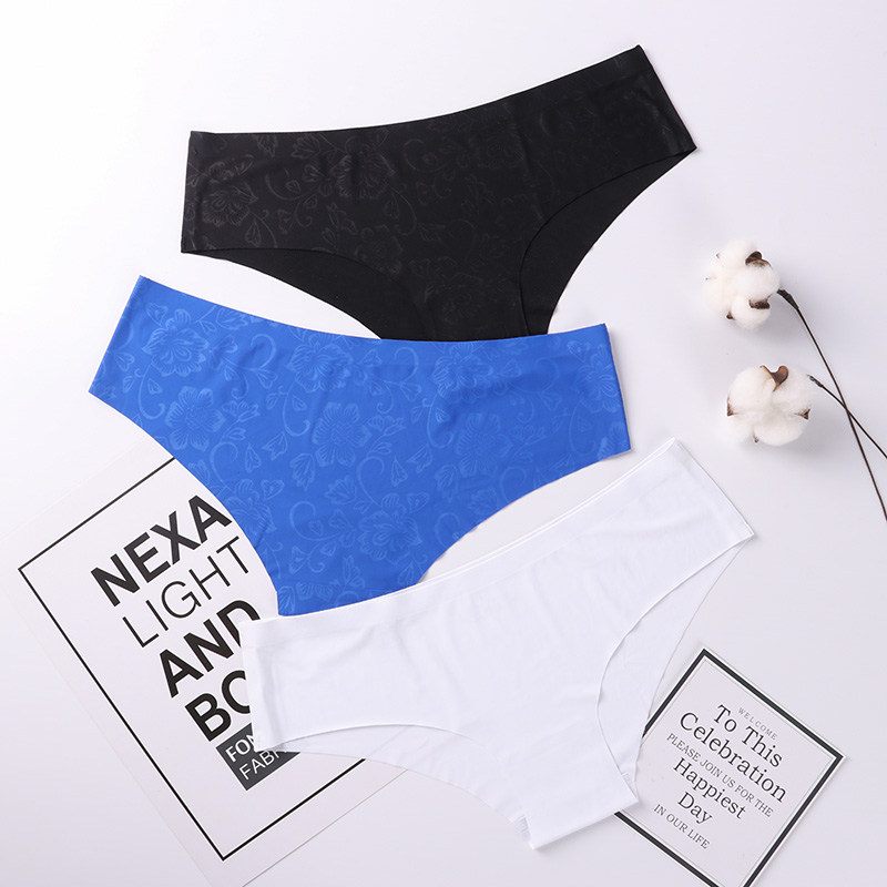 Panties Seamless Briefs for Women Underwear Cute Comfortable Bikini Ladies Invisible Traceless Panty Girls Sexy Lingerie 3 pcs 1