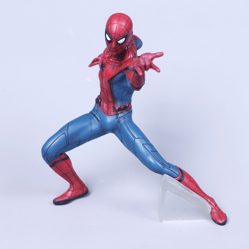 Anime Spiderman Figure Superheros Spider Man PVC Action Figure Collectible Model Kids Toys Doll 19CM figma x man series spiderman figure no 001 revoltech deadpool with bracket no 002 revoltech spider man action figures
