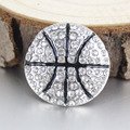 Hot selling basketball  Snap Buttons charms rhinestone  ginger button snap jewelry  fit 18mm  snap bracelet