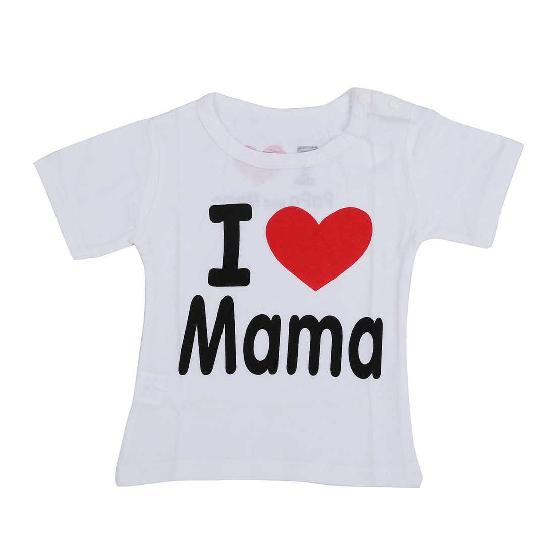 f2f3a1146c Detalle Comentarios Preguntas sobre Ropa de bebé de algodón me encanta mamá  cartas Camiseta de manga corta blanco me encanta mamá en Aliexpress.com