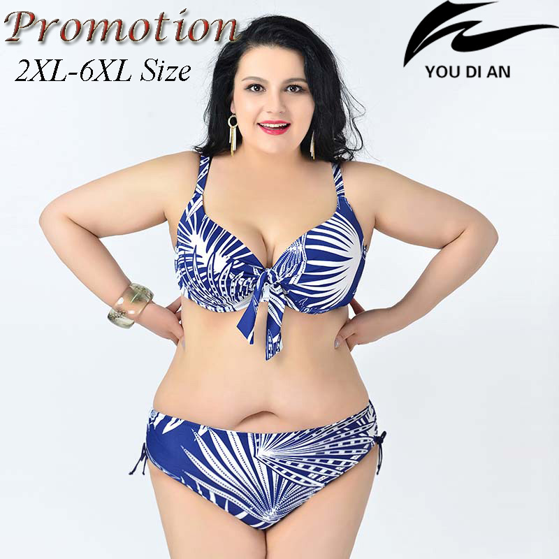hot  push up plus size bikini large size bikinis set  2XL to 6XL fat swimwear swimsuit women big size