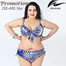 hot  push up plus size bikini large size bikinis set  2XL to 6XL fat swimwear swimsuit women big size