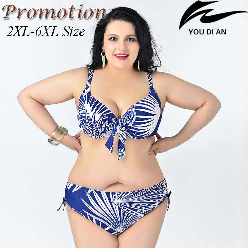 c1e8d36c4e1c5 hot push up plus size bikini large size bikinis set 2XL to 6XL fat swimwear  swimsuit