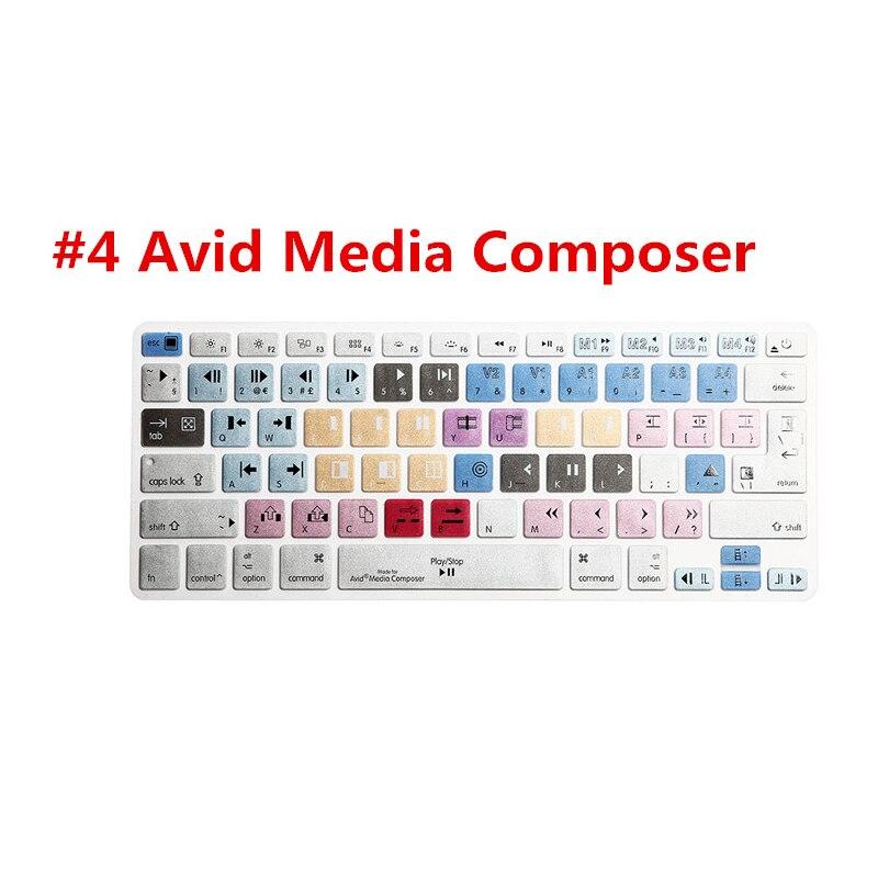 Pour macbook pro air 13 15 13.3 15.4 adobe premiere pro final Cut Pro X AI PS Raccourci Avid Media Composer Clavier Couverture de Peau