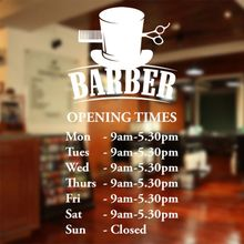 Man Barber Shop Sticker Name Time Chop Bread Decal Haircut Shavers Posters Vinyl Wall Art Decals Decor Windows Decoration Mural
